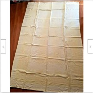 Vintage Yellow Damask Tablecloth (stains)